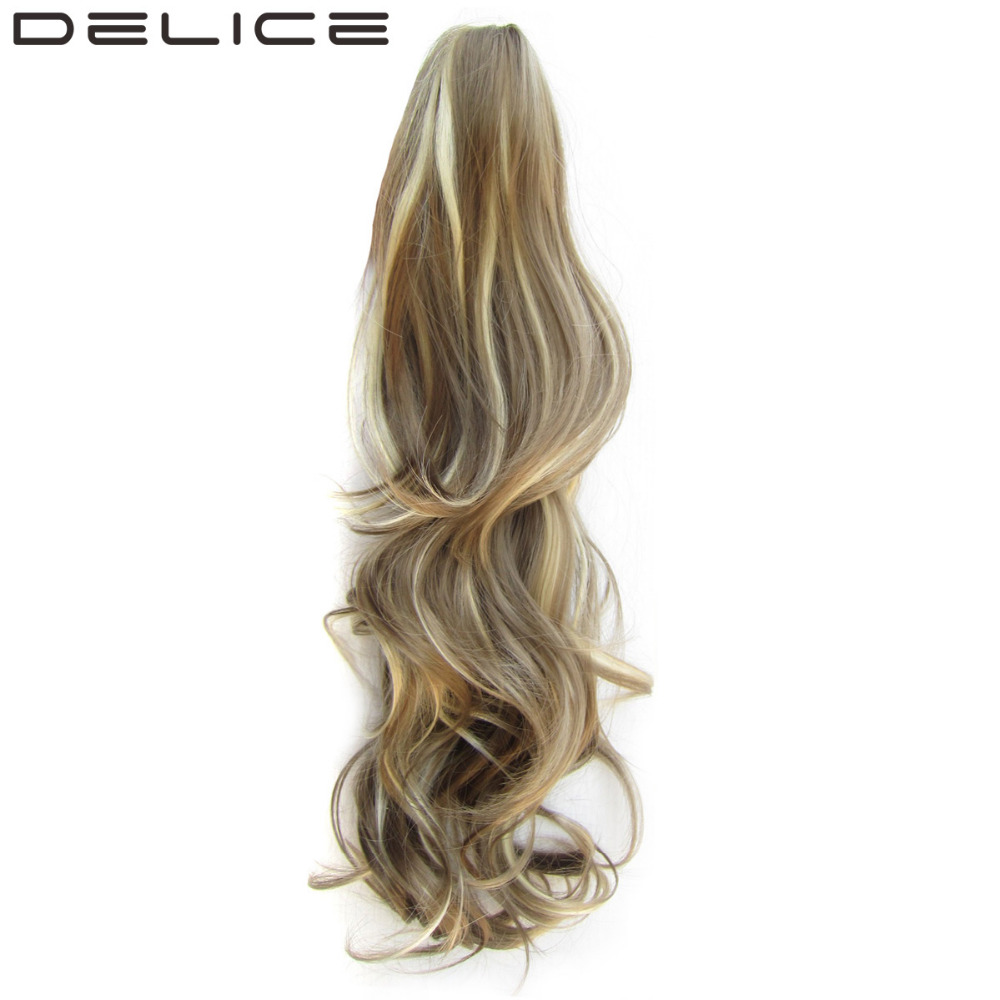 [DELICE] 24inch 160g/pc Women's High Temperature Fiber Synthetic Hair Long Layered Curly Claw Ponytail