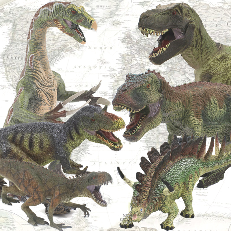 4Pcs/Lot Large Plastic Dinosaur Toys Solid Action Figure Collection Model Dinosaurs Egg Free Gift For Kids