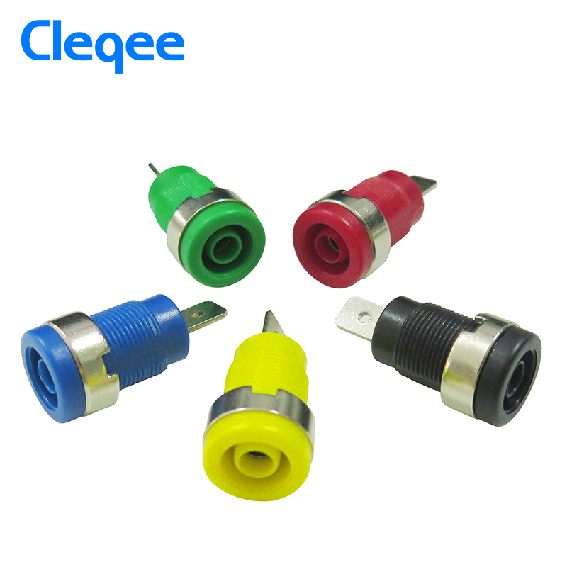 Cleqee P3007 10pcs / set 5 Color 4mm Niquelado Enchufe Post Banana - Instrumentos de medición - foto 5