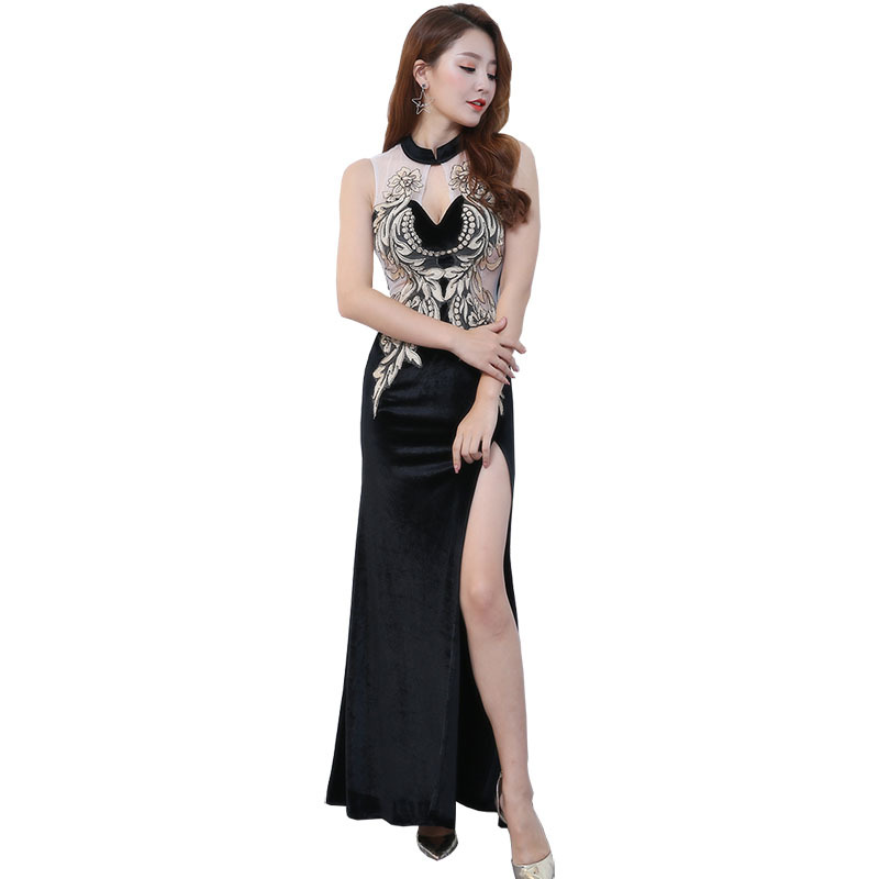 Evening dress female 2018 new cultivate one 39 s morality show thin party dresses long qipao dress sexy nightclubs aliexpress uk in Sets from Novelty amp Special Use