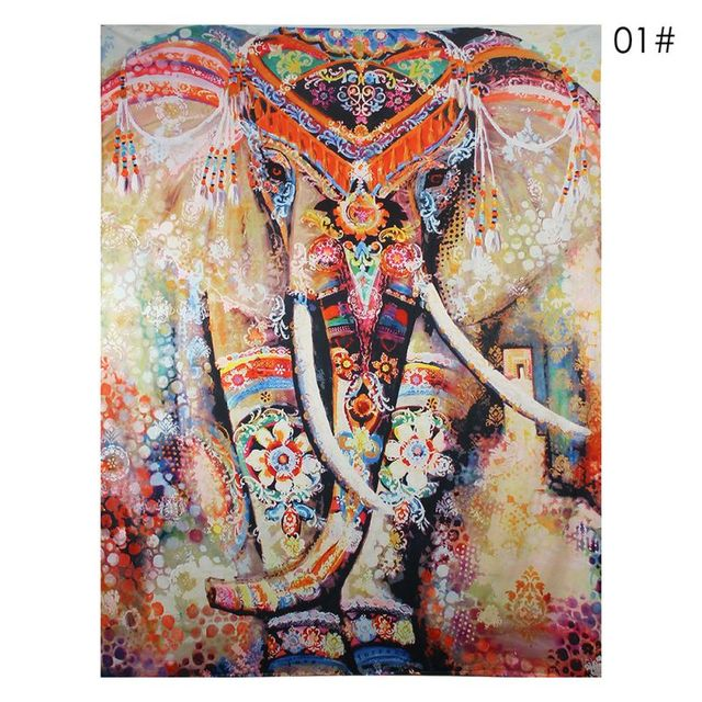 elephant tapestry colored printed decorative mandala tapestry indian