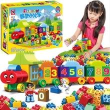 50pcs Numbers Train Compatible Duploe City Train Building Block DIY Educational Toys for Children цена в Москве и Питере