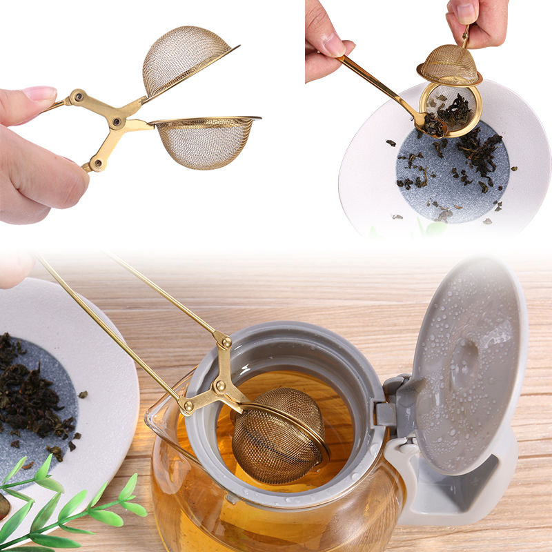 Mesh Tea Strainer Stainless Steel Handle Ball Sphere Tea Infuser For Teapot Herb Spice Filter Kitchen Gadgets Tea Tools