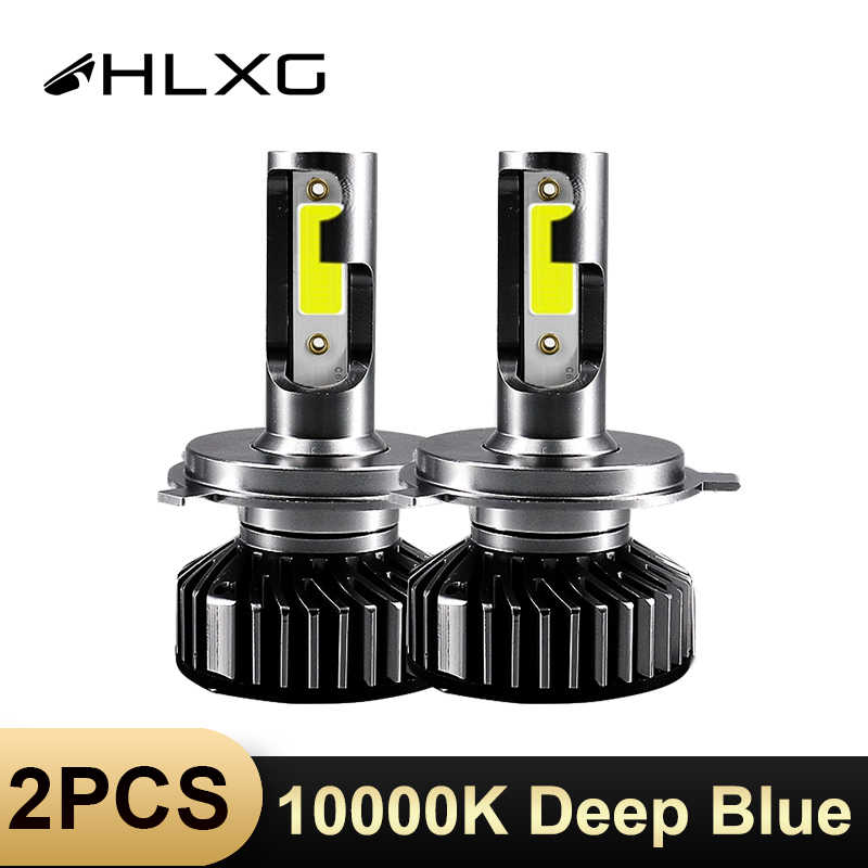 HLXG Car Headlight 10000K deep blue Mini H7 LED H4 luces h4 coche motorcycle lamp 10000LM automotivo H11 H8 H9 fog Bulb lampada