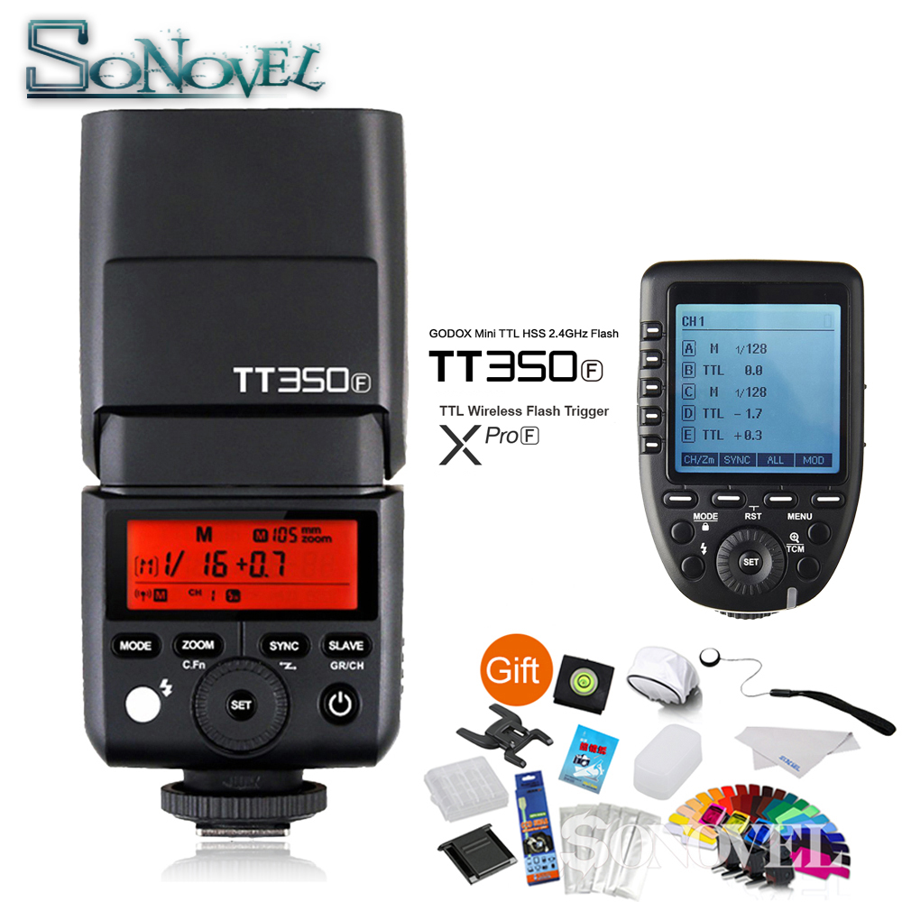 цены на Godox TT350F Mini Speedlite Camera Flash + Xpro-F TTL 2.4G HSS 1/8000s Wireless Trigger Transmitter for Fuji Fujifilm X-M1 X-A3