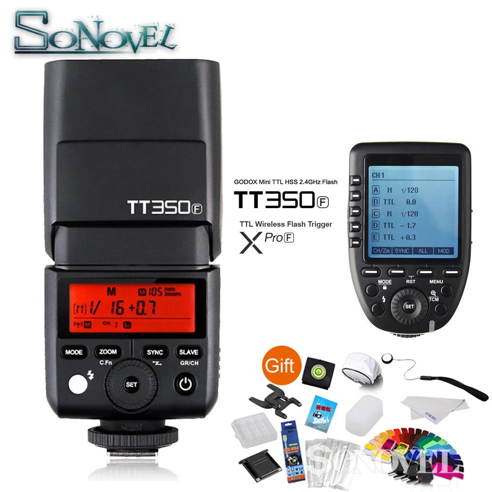 Godox TT350F Mini Speedlite Camera Flash + Xpro-F TTL 2.4G HSS 1/8000s Wireless Trigger Transmitter for Fuji Fujifilm X-M1 X-A3 godox tt350f mini speedlite camera flash ttl hss 1 8000s 2 4g wireless for fuji fujifilm x pro2 x t10 20 x t1 2 x pro1 x100t f