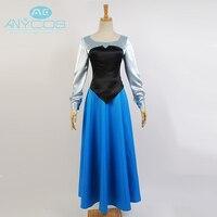 The Little Mermaid Princess Ariel Adult Women Girl Uniform Ball Gown Dress Cosplay Costume Halloween Party Full set