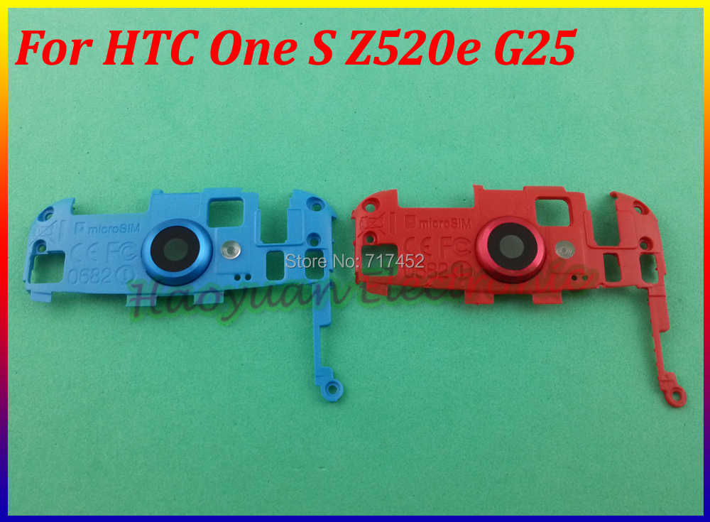 HAOYUAN.P.W Blue/Red Original New Camera Stand Housing Cover Case Replacement For HTC One S Z520E G25