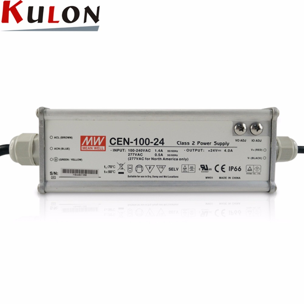 цена на MEAN WELL Original CEN-100 AC/DC Single Output Power Supply IP66 Waterproof LED Driver 100W 20V 24V 30V 36V 42V 48V 54V