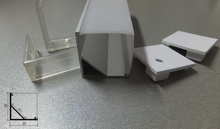 Hliníková LED hliníková pásková svítidla Kuchyňská sada pod skříňový profil Sada 100cm Doprava zdarma Snadná instalace DC 12V