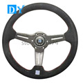New 14inch 350mm Carbon Fiber Steering Wheel Universal Racing Car Suede Leather  Steering Wheel
