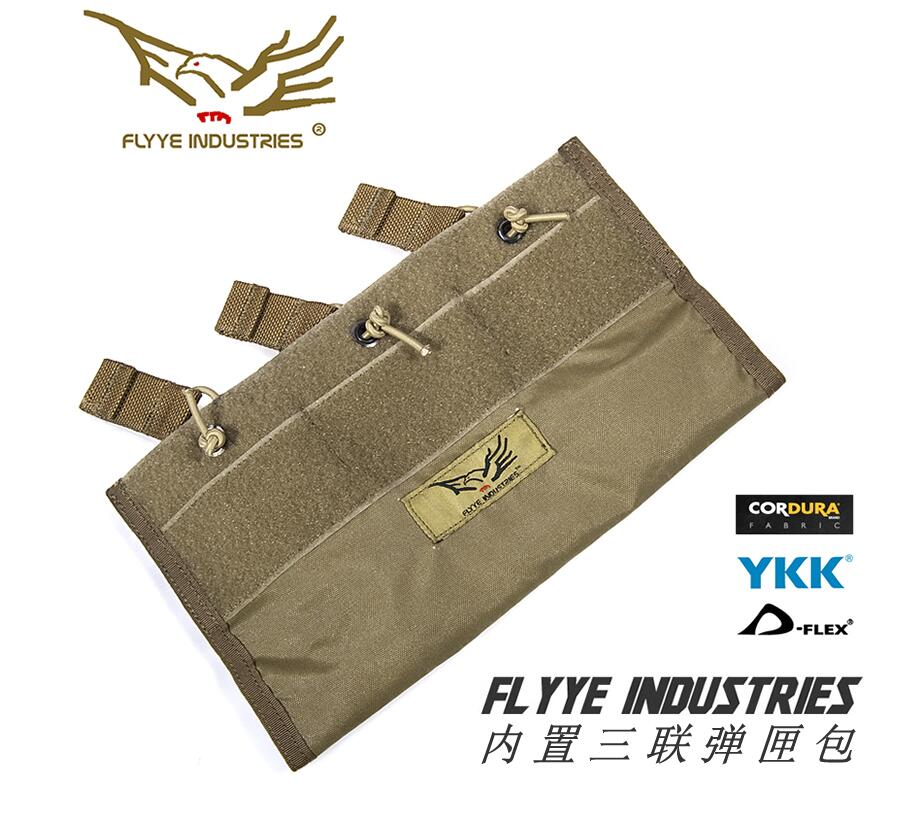 FLYYE MOLLE BUILT-IN TRIPLE 5.56 Magazine Pouch Hunting CORDURA PH-C046