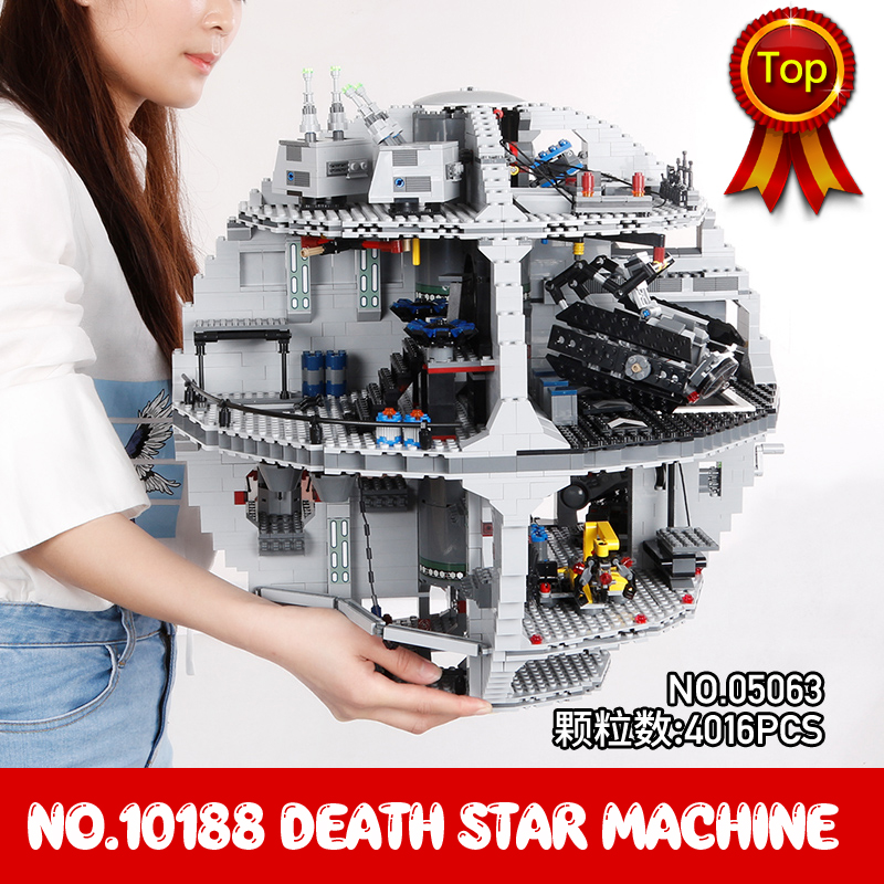 Death Star Machine 3803Pcs Star Space Wars Series Building Blocks Toys Compatible with Legoings 10188 Christmas gift