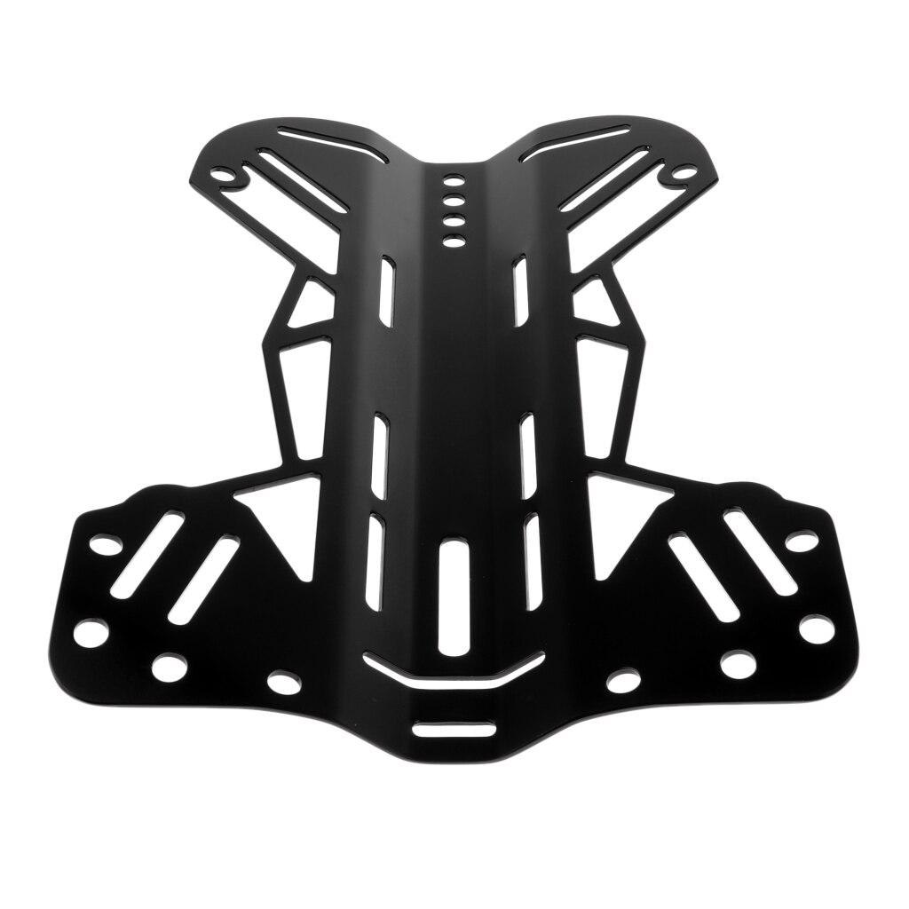 Plaque arrière en aluminium forte pour le remplacement de vitesse de système de harnais de BCD de plongeur de plongée, noir