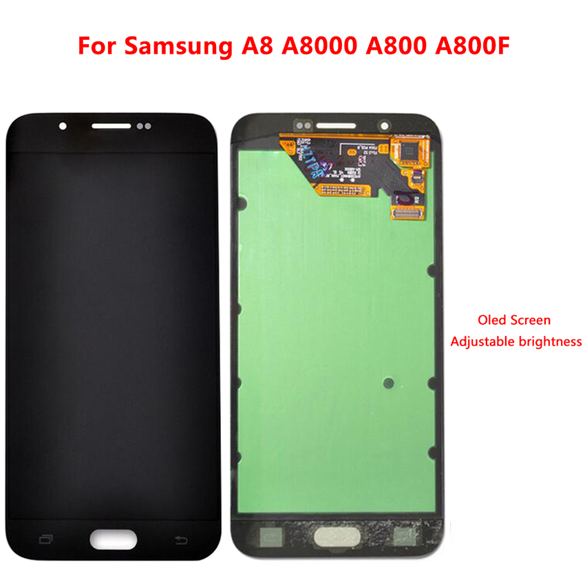 Zerosky AMOLED LCD For <font><b>Samsung</b></font> Galaxy <font><b>A8</b></font> Touch <font><b>Screen</b></font> Digitizer <font><b>Display</b></font> Assembly Adjustable Brightness image