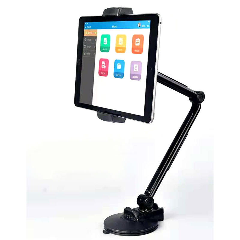 Tablet Stand Holder Sticky Suction Cup Mount 4 12 9 inch Aluminum Adjustable Stand for iPad