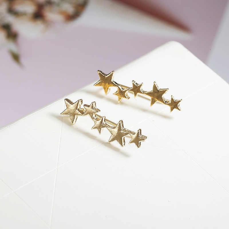 חדש אופנה רסיס צבע זהב צבע עלה פרח כוכב צורת Earcuffs בוהמי קליפ על אוזן קאף לנשים עגיל קליפים תכשיטים