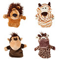 Baby Childrens Animal Wildlife Hand Puppets Glove Soft Plush Toys 4 Styles Gifts