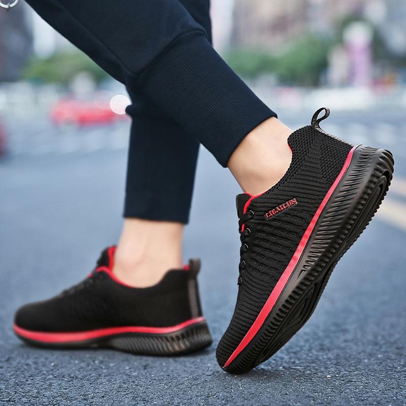 Outdoor Sneakers 2019 Sport Running Shoes Men  Casual Shoes Men Flats Mesh Breathable Walking Footwear Sport Trainers zapatillas de moda 2019 hombre