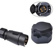 12 В 7 Pin Пластик прицепа и подключить фаркоп Европейский Стандартный электрика Водонепроницаемый разъем грузовик кабель адаптер