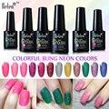 Belen 10ml UV Gel Nail Polish Neon Color UV Lamp Soak off Gel Polish LED UV Gel Color Nail Gel lacuqer Vanishes Nail Art