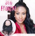 8A Grade 360 Lace Frontal Band Body Wave Natural Hairline With Baby Hair Virgin Brazilian Body Wave 360 Lace Frontal Closure