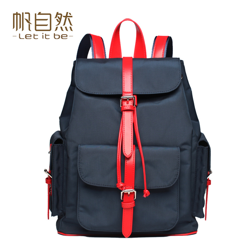 Let it be casual backpack women nylon school bags for teenagers preppy style travel oxford canvas backpacks brand mochila