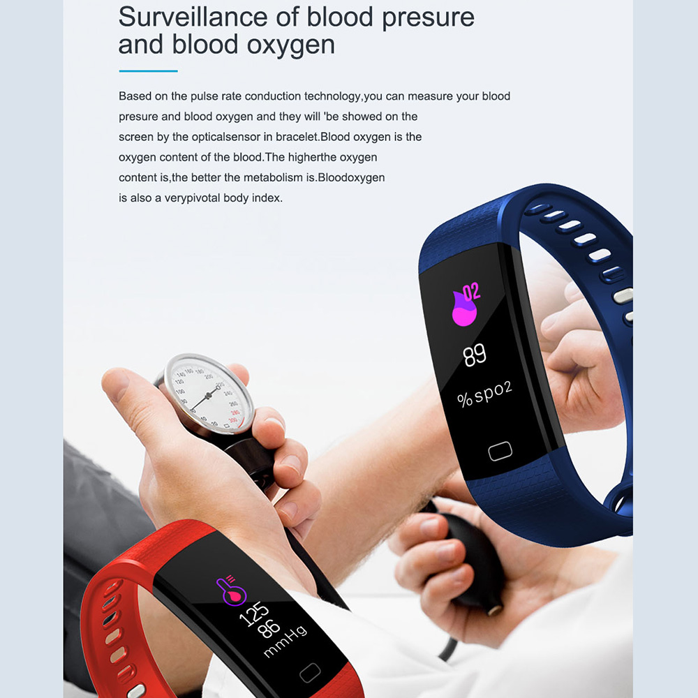 TimeOwner Smart Band Y5 Heart Rate Blood Pressure Monitor High Brightness Colorful Screen Smart Bracelet Wristband Notification 2