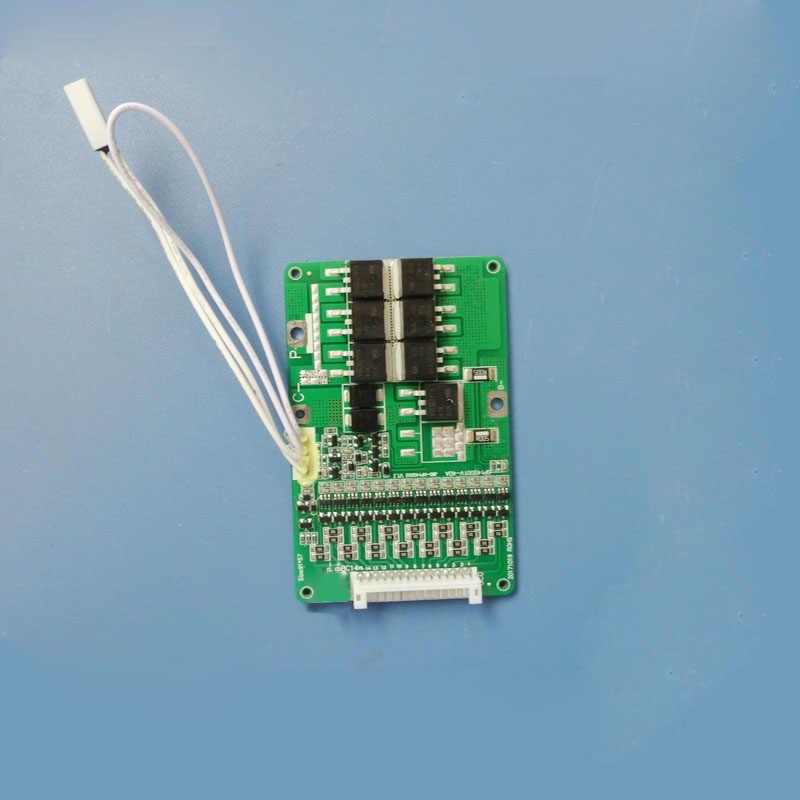 14 S BMS 58,8 V литий-ионная аккумуляторная печатная плата с защитой порта зарядки и функцией переключателя 40A постоянная разрядка тока
