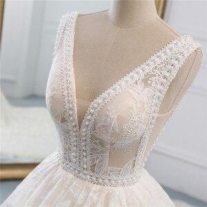 Image 5 - Fansmile lüks dantel uzun tren topu cüppe şeklinde gelinlik 2020 Vestidos de Novia prenses kalite düğün gelinlik FSM 524T