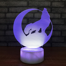 цены 3D Led Night Light Creative USB Children Wolf Moon Modelling Table Lamp For Bedroom Home Lighting Bedside Touch Lamp Decorative