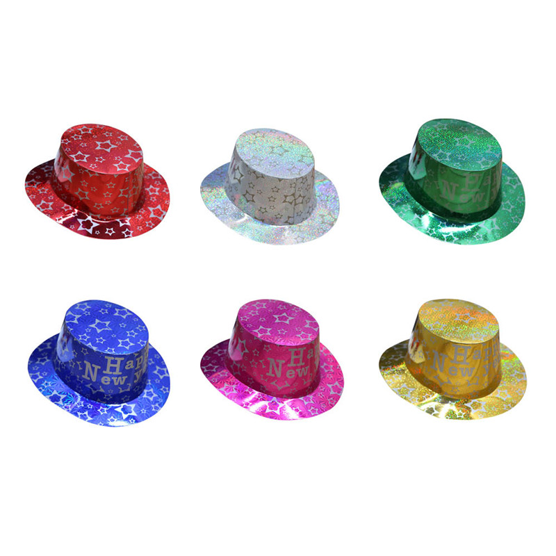 Bright Neon Color Gangster Hats Rock Star Dress Up Set Favor For Photo Booths Themed Halloween Hats Toy For Adults Kids