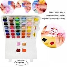 96 цветов набор швейных коробок DIY вышивальные Инструменты Резьба для удобства вышивки крестом нитки для вышивания коробка набор Органайзер Рождество