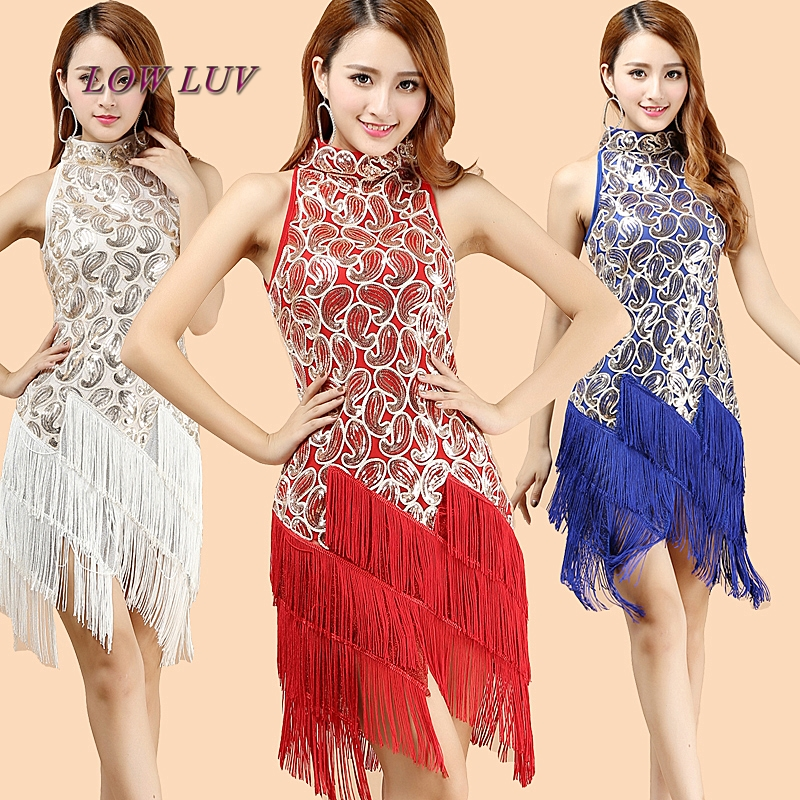 Women Latin Dance Dress Women Ballroom Dancing Dresses Latin Dance Costume Dance Latin Dresses Tango Dress/tassel