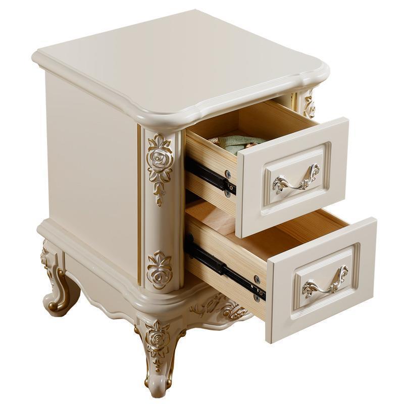 Mesillas Noche Para El Armarios Slaapkamer European Wooden Cabinet Quarto Mueble De Dormitorio Bedroom Furniture Nightstand grupo de noche