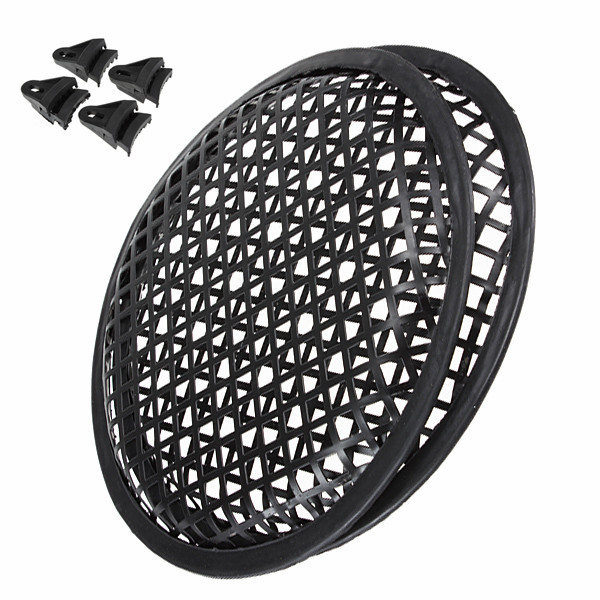 2pcs 8 Inch Universal Metal Car Audio SubWoofer Waffle Grills Speaker Cover Guard