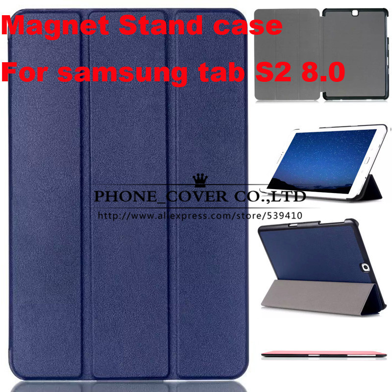Magnetic Stand pu leather Case cover For Samsung Galaxy Tab S2 8.0 T710 SM-T715 T715 8'' tablet cover case + screen protectors new x line soft clear tpu case gel back cover for samsung galaxy tab s2 s 2 ii sii 8 0 tablet case t715 t710 t715c silicon case