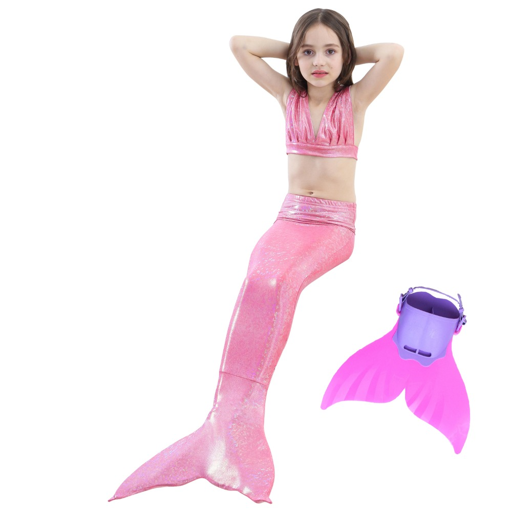 Children Mermaid Tails For Swimming Costume Little Mermaid with Shark Fin Girls Kids Swimsuit Bikini Dress Cosplay For Party