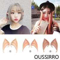 OUSSIRRO 1 Pair Cosplay Masks Soft Fairy Pixie Elf Ears Accessories Halloween Party Pointed Prosthetic Tips