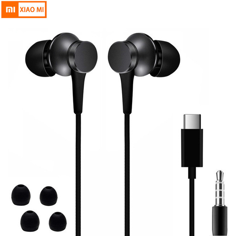 Xiaomi piston 3 earphone USB Type-C Mi piston fresh earphone headset for xiaomi Mi6/8 huawei earphones earbuds