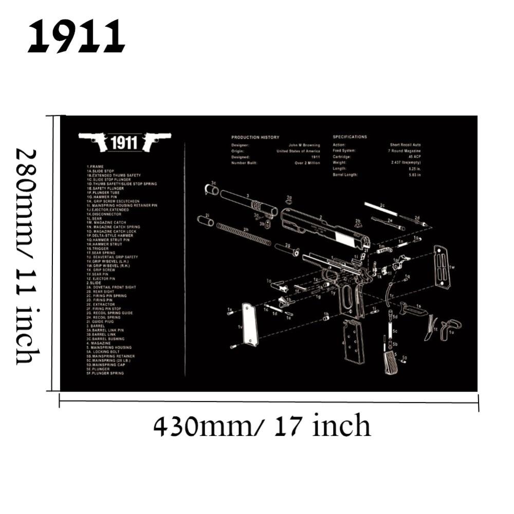 Большой чистящий коврик для ружья AR15 AK47 Glock 1911 SIG винтовка пистолет оружейный оружейник разборка ремонт набор инструментов для сборки скамьи колодки