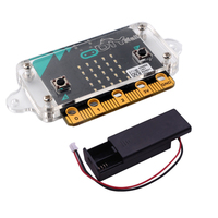 For BBC Micro:bit Development Board with Transparent Acrylic Protective Case and AAA Cell Battery Holder Box Case FZ3143