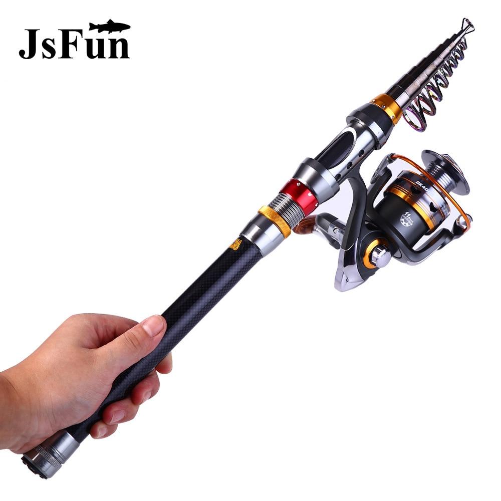 Carbon 1.8M 2.1M 2.4M 2.7M 3.0M 3.6M Portable Telescopic Fishing Rod Spinning Fish Hand Fishing Tackle Sea Rod Ocean Rod L173