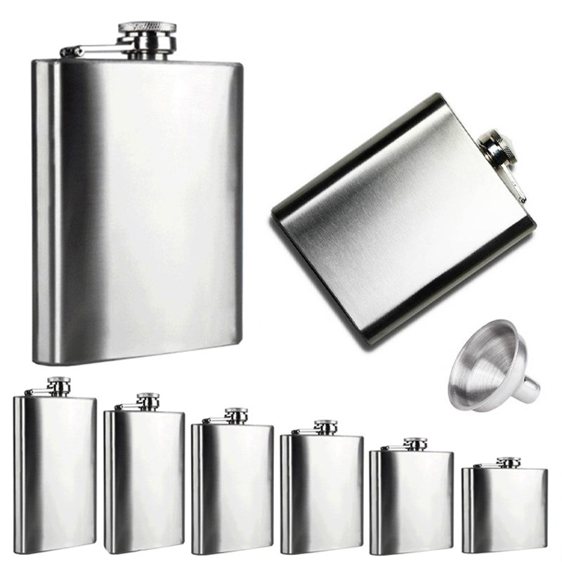 Stainless Steel Hip Flask - 4 oz to 10 oz 1