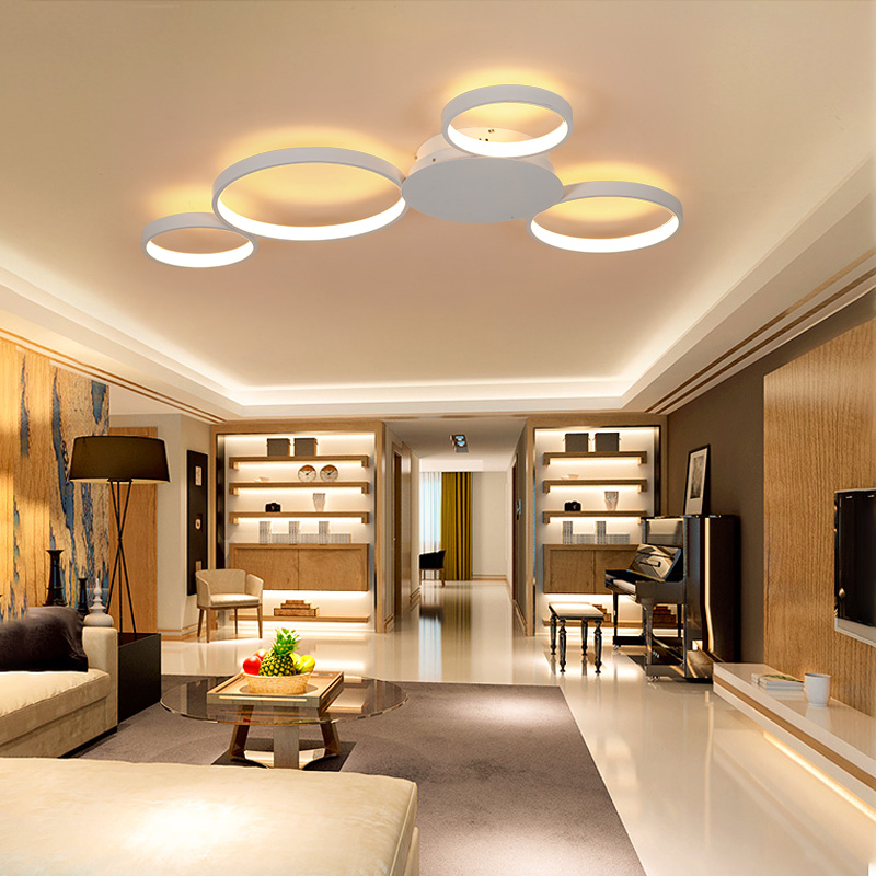 VEIHAO Modern LED Chandlier Creative living room fixtures bedroom ceiling lamp White/Matte Coffee Chandeliers lighting AC85-260V chandlier