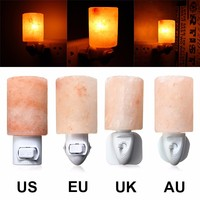 Rotatable Mini Himalayan Salt Night Light Cylinder Shape Wall Lamp Bedside Bedroom Home Decor Novelty Lighting