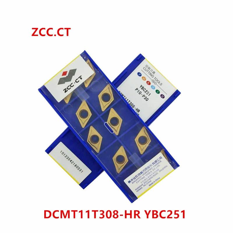 ZCC.CT DNMG110404-PM YBC251 DNMG331-PM P10-P30 10Pcs Carbide inserts