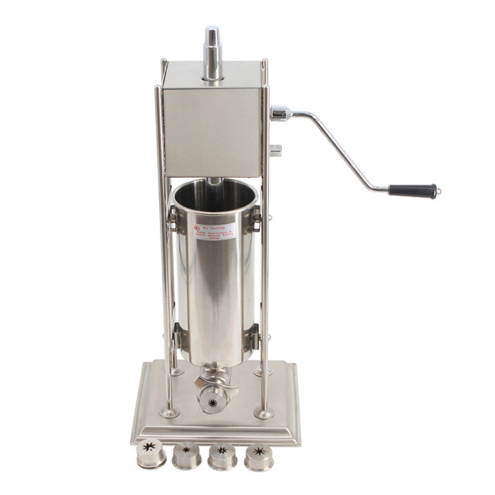 Manual Churros Extrusion Maker Machine Spanish Fritters Chocolate Crullers Donuts Deep Fried Cinnamon Strips Extrude Shape Tool in Manual Milk Cream Separators from Home Garden
