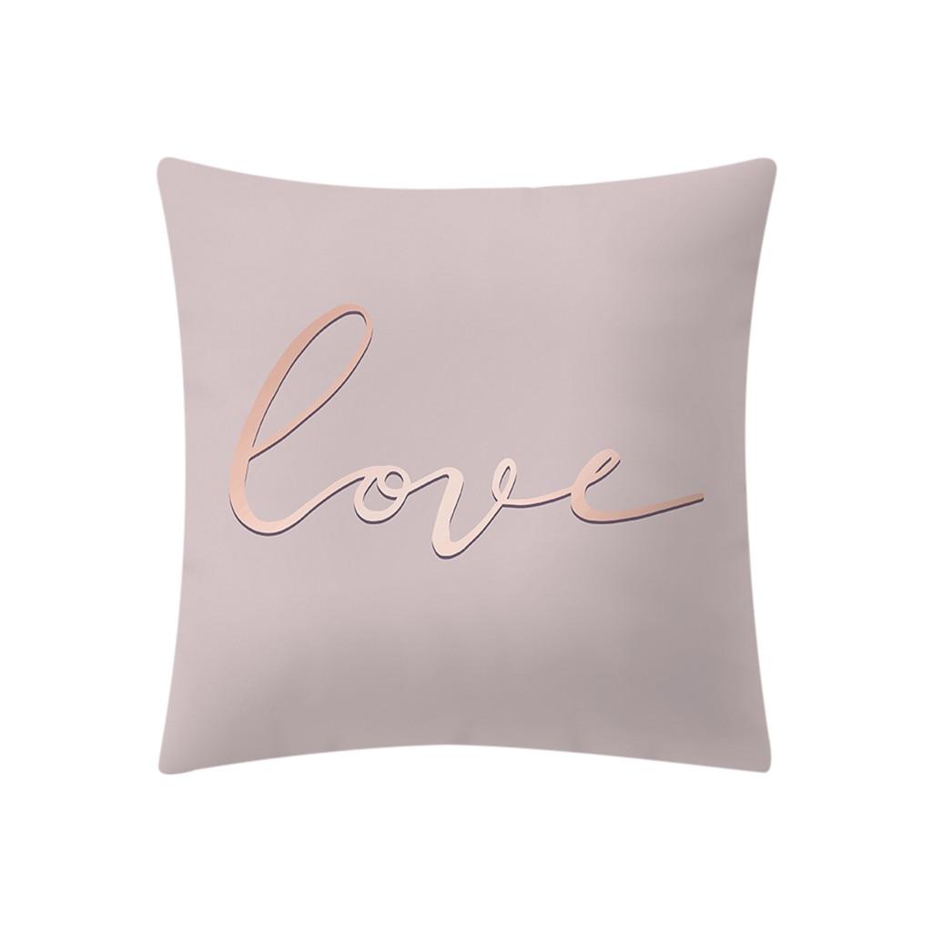 Rose Gold Pink Print Throw Pillow Case Decorative Pillows