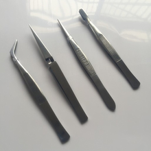 Four-piece mirror stainless steel tweezers 4pc high-end tool set  maintenance tweezer